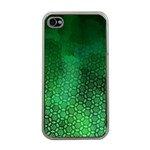 Ombre Green Abstract Forest Apple iPhone 4 Case (Clear) Front