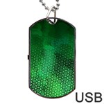 Ombre Green Abstract Forest Dog Tag USB Flash (Two Sides)  Front
