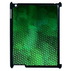 Ombre Green Abstract Forest Apple Ipad 2 Case (black) by DanaeStudio