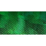 Ombre Green Abstract Forest Twin Hearts 3D Greeting Card (8x4) Back