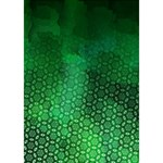 Ombre Green Abstract Forest Circle Bottom 3D Greeting Card (7x5) Inside
