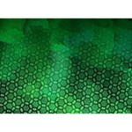 Ombre Green Abstract Forest Circle 3D Greeting Card (7x5) Back