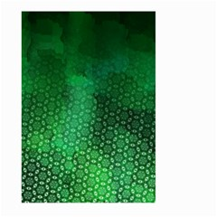 Ombre Green Abstract Forest Large Garden Flag (two Sides) by DanaeStudio