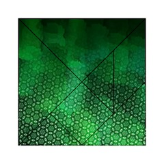 Ombre Green Abstract Forest Acrylic Tangram Puzzle (6  X 6 ) by DanaeStudio