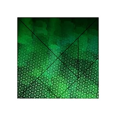 Ombre Green Abstract Forest Acrylic Tangram Puzzle (4  X 4 ) by DanaeStudio