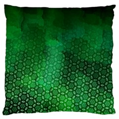 Ombre Green Abstract Forest Large Cushion Case (one Side) by DanaeStudio