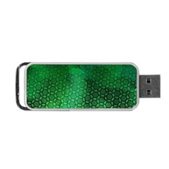 Ombre Green Abstract Forest Portable Usb Flash (one Side) by DanaeStudio