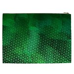 Ombre Green Abstract Forest Cosmetic Bag (XXL)  Back