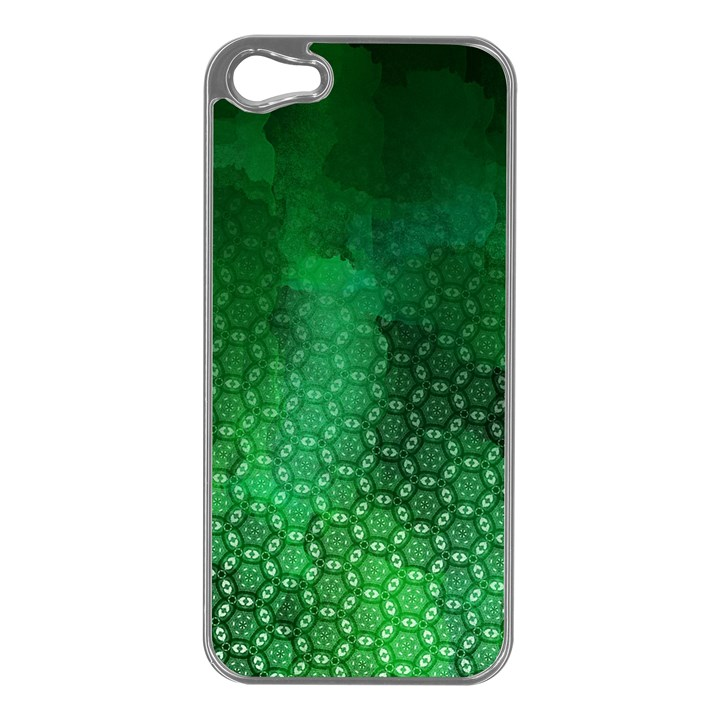 Ombre Green Abstract Forest Apple iPhone 5 Case (Silver)