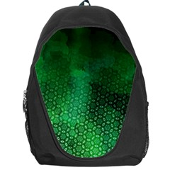 Ombre Green Abstract Forest Backpack Bag by DanaeStudio