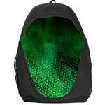 Ombre Green Abstract Forest Backpack Bag Front