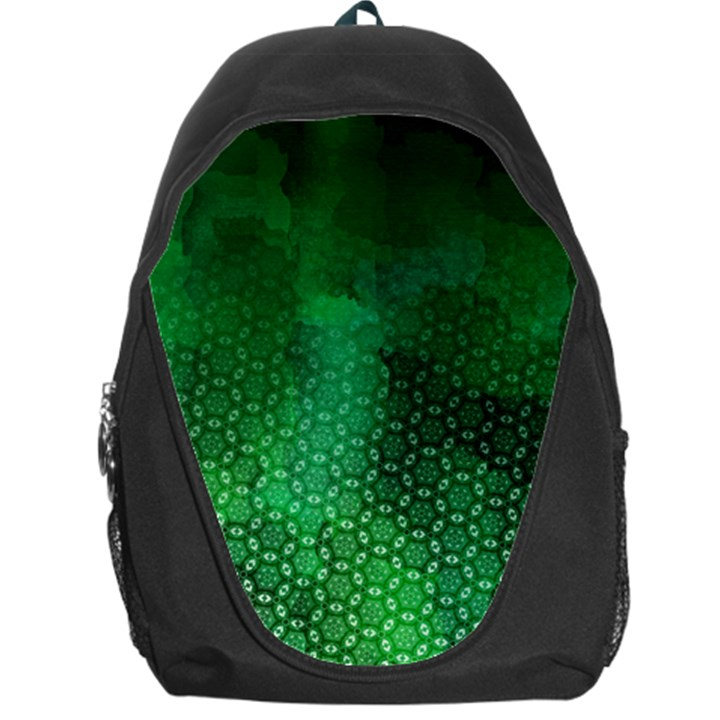 Ombre Green Abstract Forest Backpack Bag