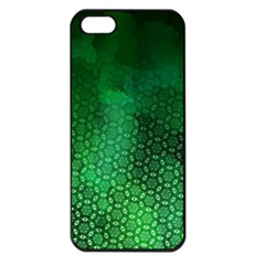 Ombre Green Abstract Forest Apple Iphone 5 Seamless Case (black) by DanaeStudio
