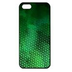 Ombre Green Abstract Forest Apple iPhone 5 Seamless Case (Black) Front
