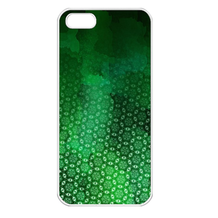 Ombre Green Abstract Forest Apple iPhone 5 Seamless Case (White)