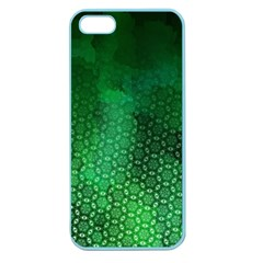 Ombre Green Abstract Forest Apple Seamless Iphone 5 Case (color) by DanaeStudio