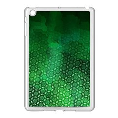 Ombre Green Abstract Forest Apple Ipad Mini Case (white) by DanaeStudio