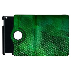Ombre Green Abstract Forest Apple Ipad 3/4 Flip 360 Case