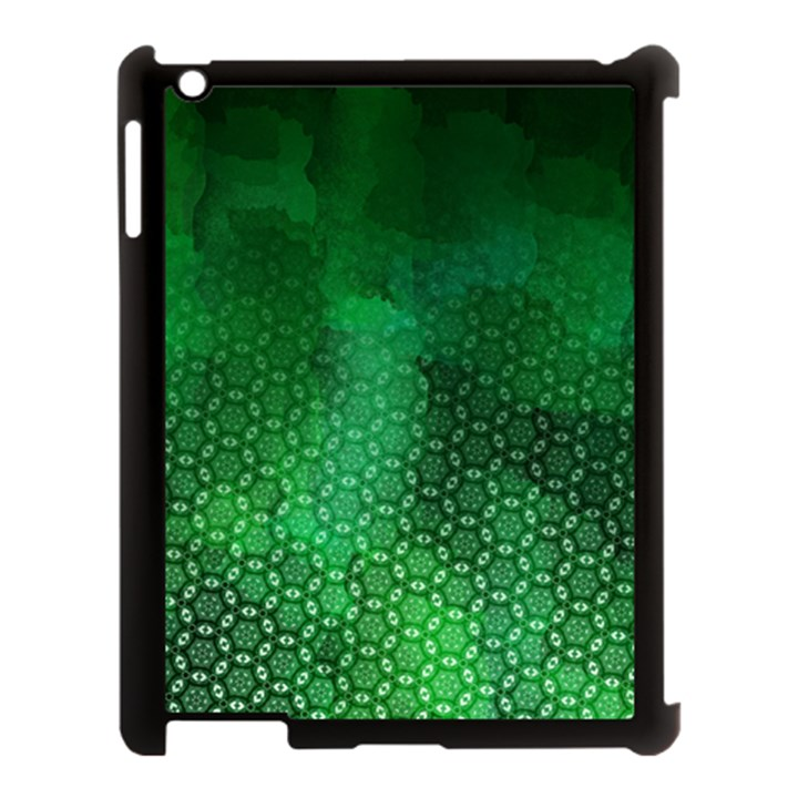 Ombre Green Abstract Forest Apple iPad 3/4 Case (Black)