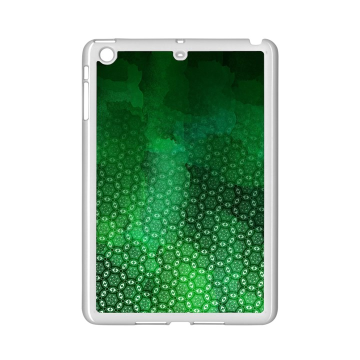 Ombre Green Abstract Forest iPad Mini 2 Enamel Coated Cases