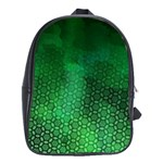 Ombre Green Abstract Forest School Bags (XL)  Front