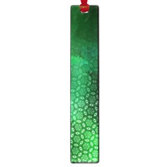 Ombre Green Abstract Forest Large Book Marks by DanaeStudio