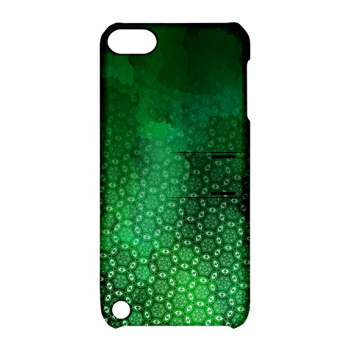 Ombre Green Abstract Forest Apple iPod Touch 5 Hardshell Case with Stand