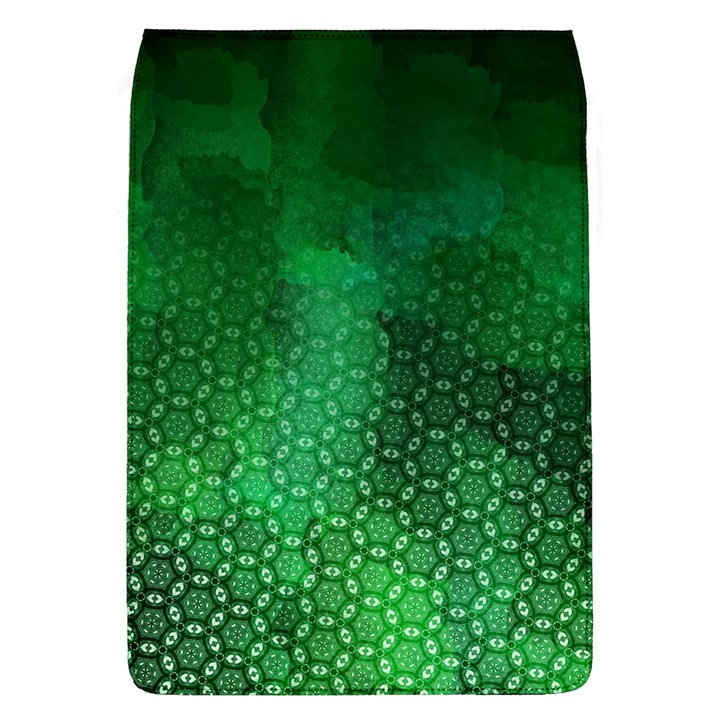 Ombre Green Abstract Forest Flap Covers (L)