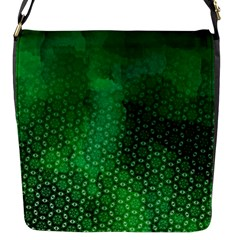 Ombre Green Abstract Forest Flap Messenger Bag (s)