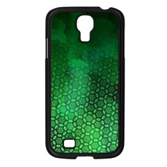 Ombre Green Abstract Forest Samsung Galaxy S4 I9500/ I9505 Case (black) by DanaeStudio