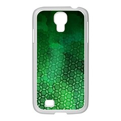 Ombre Green Abstract Forest Samsung Galaxy S4 I9500/ I9505 Case (white) by DanaeStudio