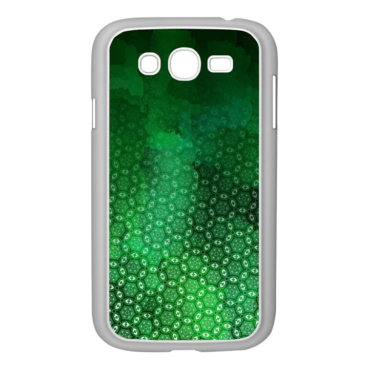 Ombre Green Abstract Forest Samsung Galaxy Grand DUOS I9082 Case (White)