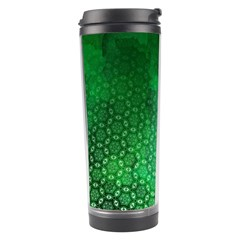 Ombre Green Abstract Forest Travel Tumbler