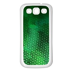 Ombre Green Abstract Forest Samsung Galaxy S3 Back Case (white) by DanaeStudio