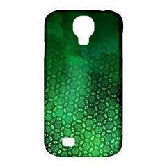 Ombre Green Abstract Forest Samsung Galaxy S4 Classic Hardshell Case (pc+silicone) by DanaeStudio