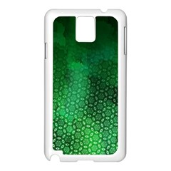 Ombre Green Abstract Forest Samsung Galaxy Note 3 N9005 Case (white) by DanaeStudio