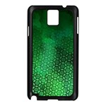Ombre Green Abstract Forest Samsung Galaxy Note 3 N9005 Case (Black) Front