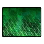 Ombre Green Abstract Forest Double Sided Fleece Blanket (Small)  45 x34 Blanket Back