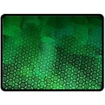 Ombre Green Abstract Forest Double Sided Fleece Blanket (Large)  80 x60 Blanket Back