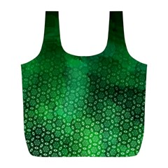 Ombre Green Abstract Forest Full Print Recycle Bags (l)  by DanaeStudio