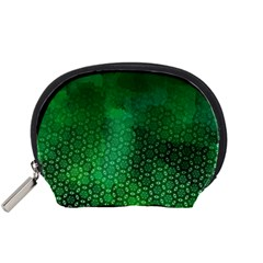 Ombre Green Abstract Forest Accessory Pouches (small)  by DanaeStudio
