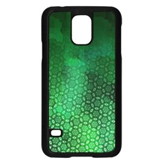 Ombre Green Abstract Forest Samsung Galaxy S5 Case (black) by DanaeStudio