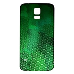 Ombre Green Abstract Forest Samsung Galaxy S5 Back Case (white) by DanaeStudio