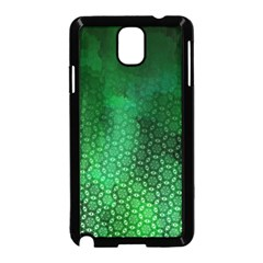 Ombre Green Abstract Forest Samsung Galaxy Note 3 Neo Hardshell Case (black) by DanaeStudio