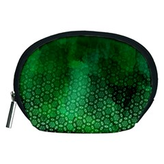 Ombre Green Abstract Forest Accessory Pouches (medium)  by DanaeStudio