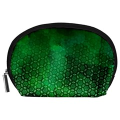 Ombre Green Abstract Forest Accessory Pouches (large)  by DanaeStudio