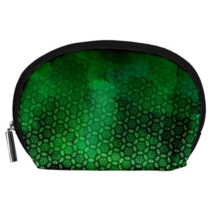 Ombre Green Abstract Forest Accessory Pouches (Large)