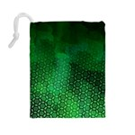 Ombre Green Abstract Forest Drawstring Pouches (Large)  Back