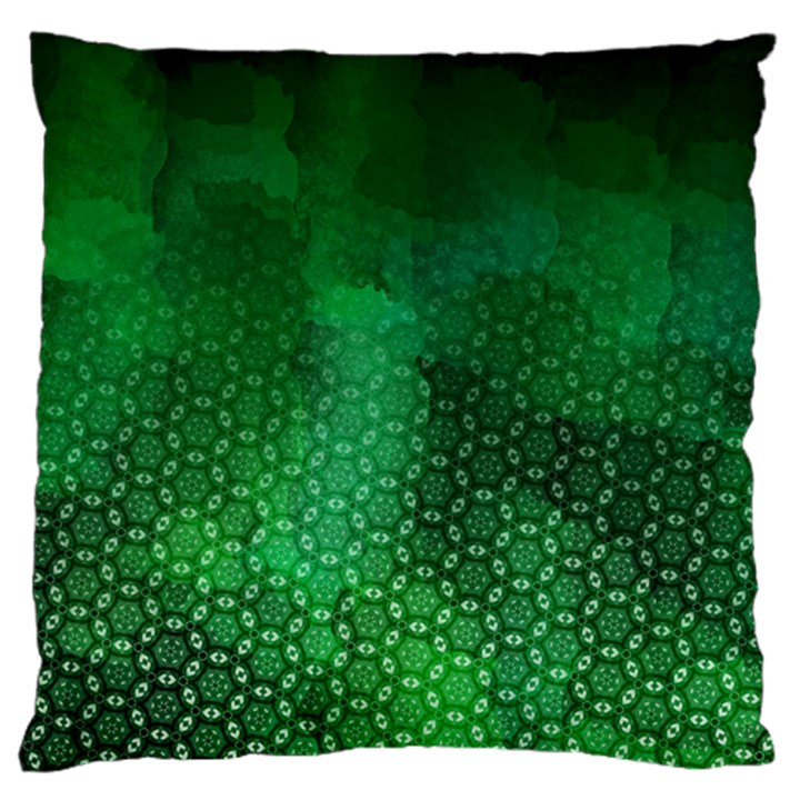 Ombre Green Abstract Forest Standard Flano Cushion Case (Two Sides)