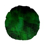 Ombre Green Abstract Forest Standard 15  Premium Flano Round Cushions Front